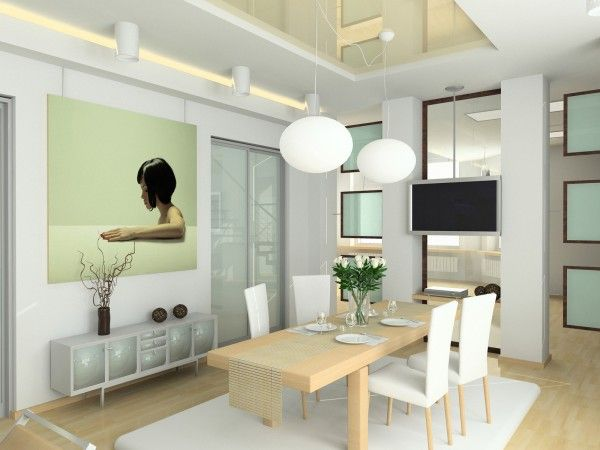 Modern Dining Room Design With Mango Wood Dining Chairs