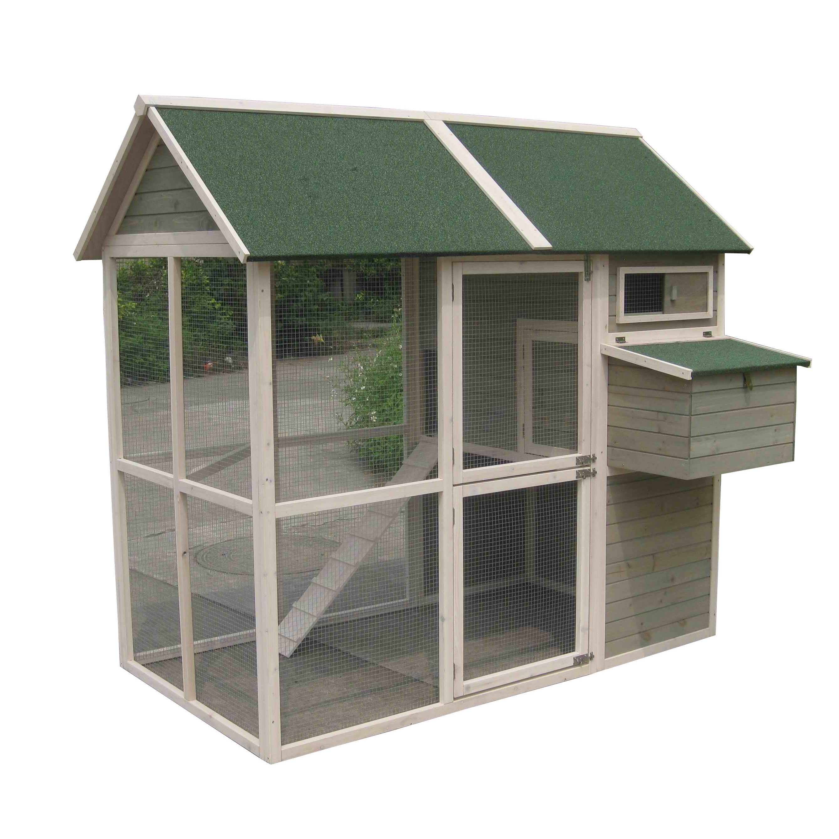Innovation Pet Extra Large Green Walk In Coop Up To 15 Chickens Chicken Barn Walk In Chicken Coop Building A Chicken Coop
