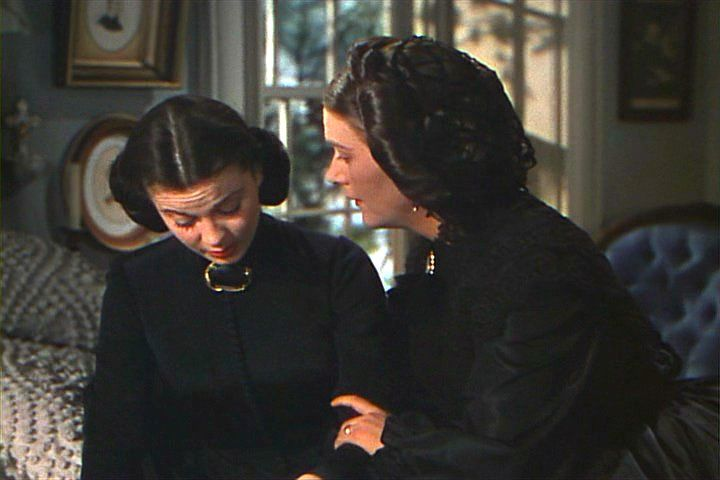 Scarlett and her mother Ellen -- Charles Hamilton is dead so Scarlett, at 16, has no life.