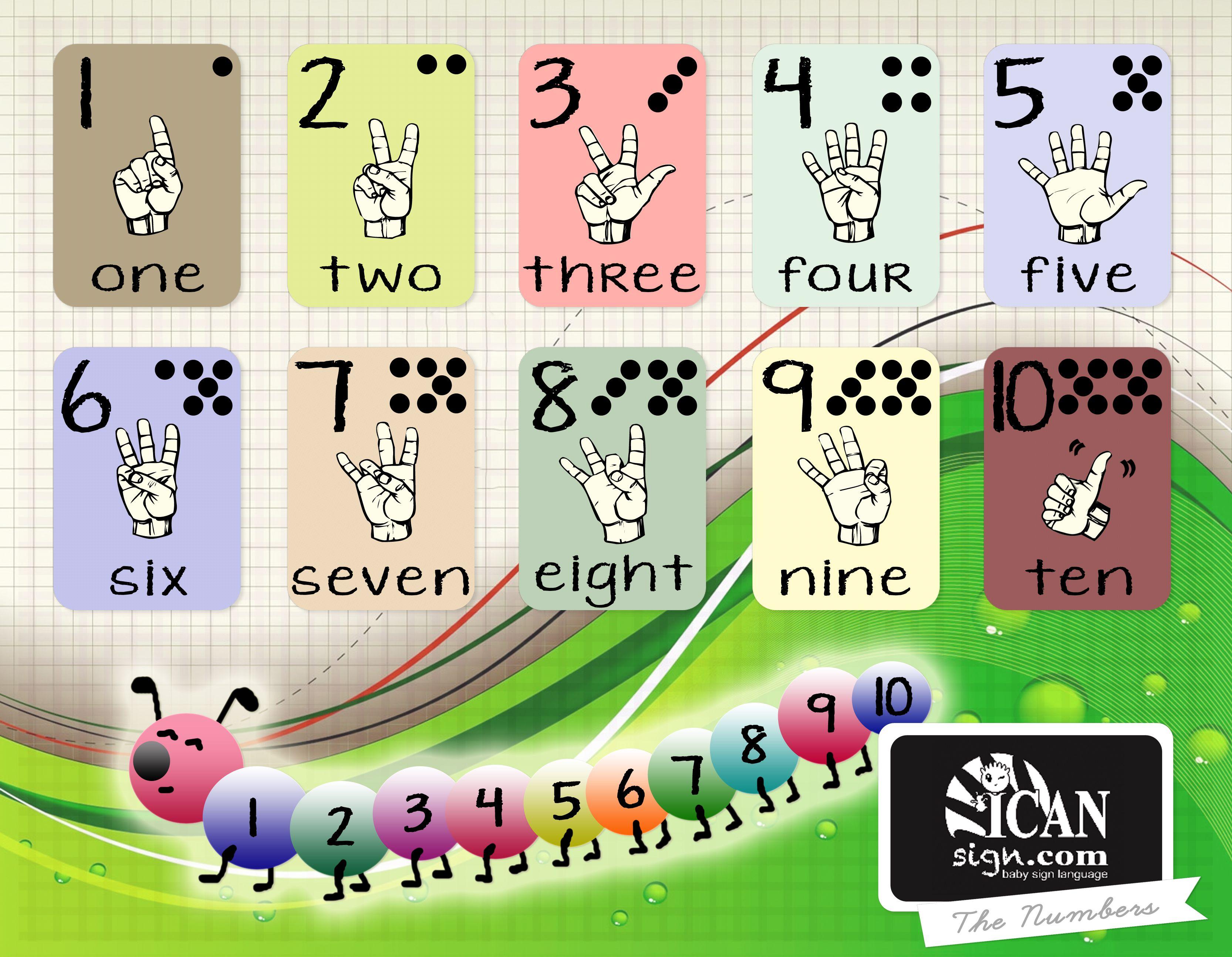 Full Color ASL numbers chart #aslnumbers #aslnumberschart ...