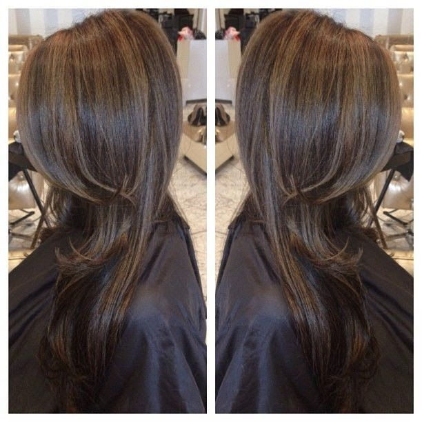 12 flattering dark brown hair with caramel highlights dark 12 flattering dark brown hair with caramel highlights pmusecretfo Choice Image