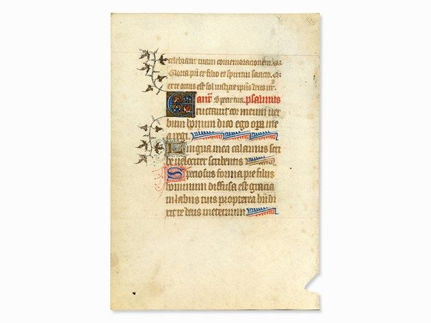 Manuscript from a Latin Book of Hours, France, c. 1450