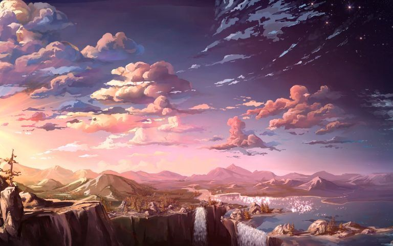 Beautiful Anime World Hd Wallpaper S Izobrazheniyami Pejzazhi