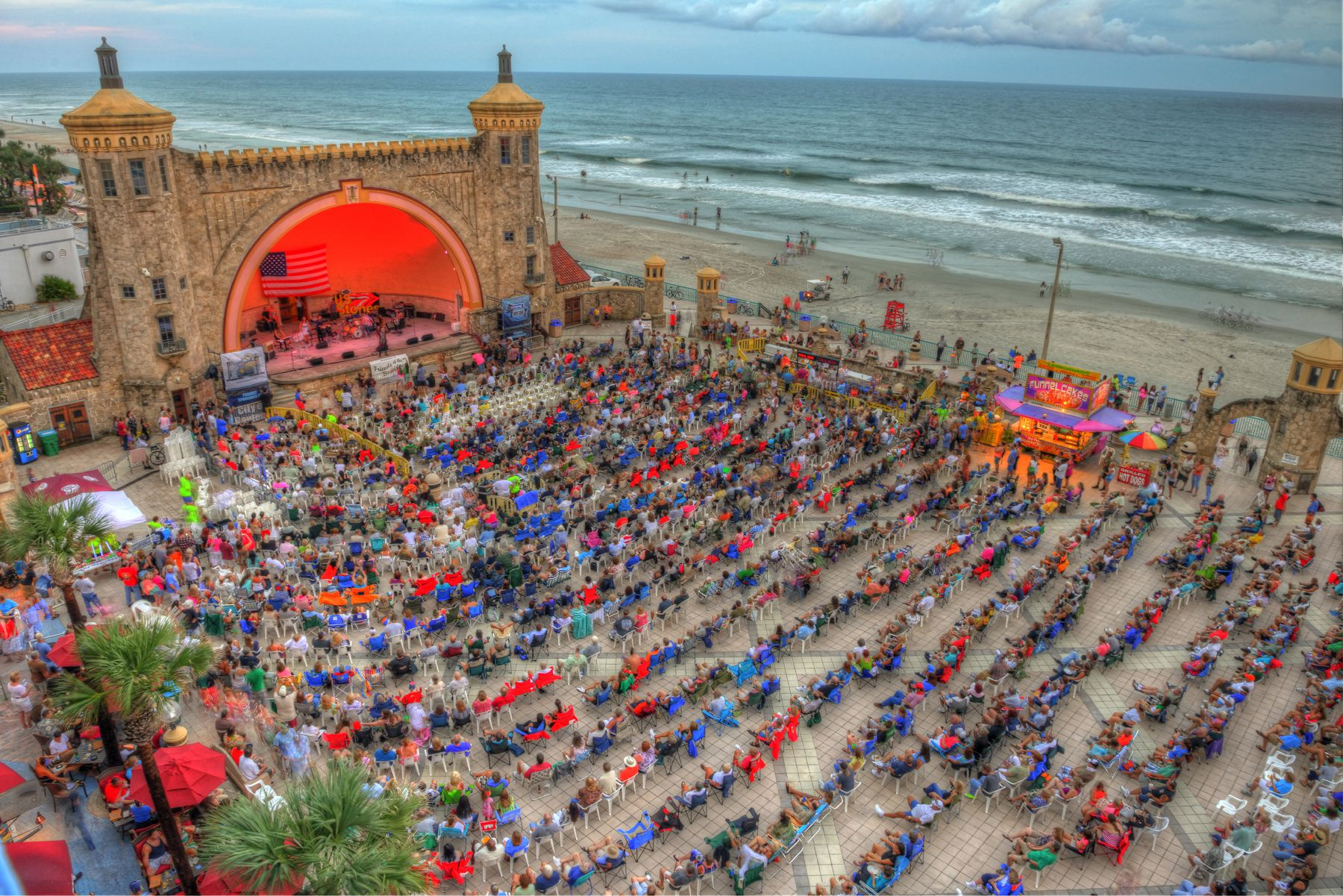 The Daytona Beach Bandshell Located In Oceanfront Park Can Host
