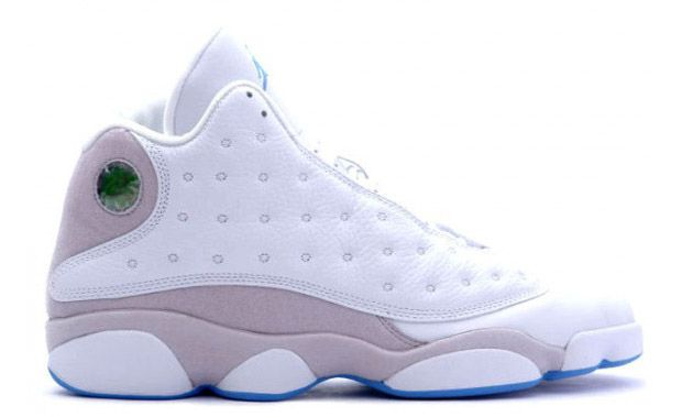 Air Jordan XIII neutral grey, via Nice Kicks.