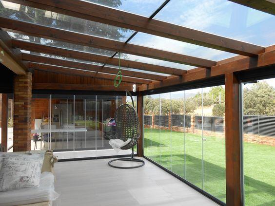 Porches con cubierta en cristal patio pinterest - Porches para jardin ...