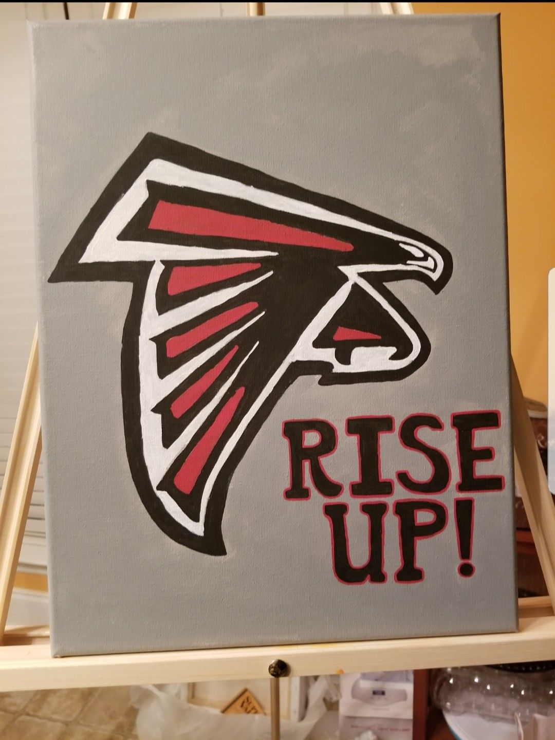 Daddy S An Atlanta Falcons Fan Too Another Father S Day Gift Rise Up Atlanta Falcons Canvas Atlanta Falcons Fans Canvas Painting