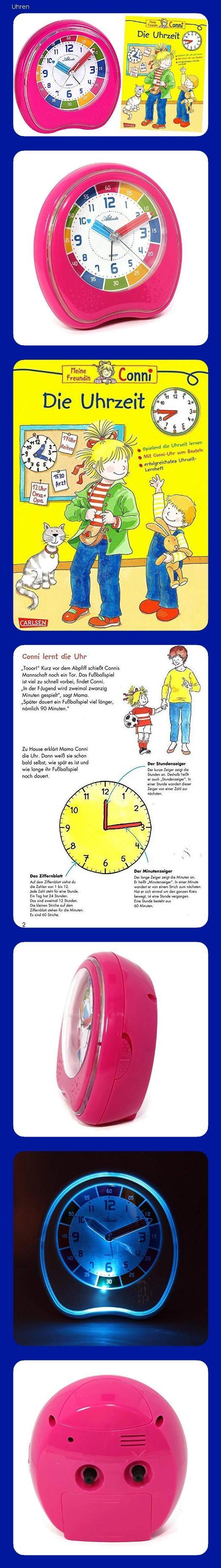 Kinderwecker ohne Ticken Lernbuch Connie Uhrzeit lernen Rosa Mädchen 1917-8BU