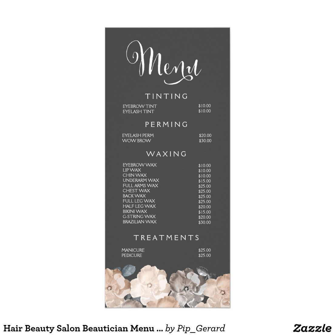 Perfect Spa Menu Template   Google Search