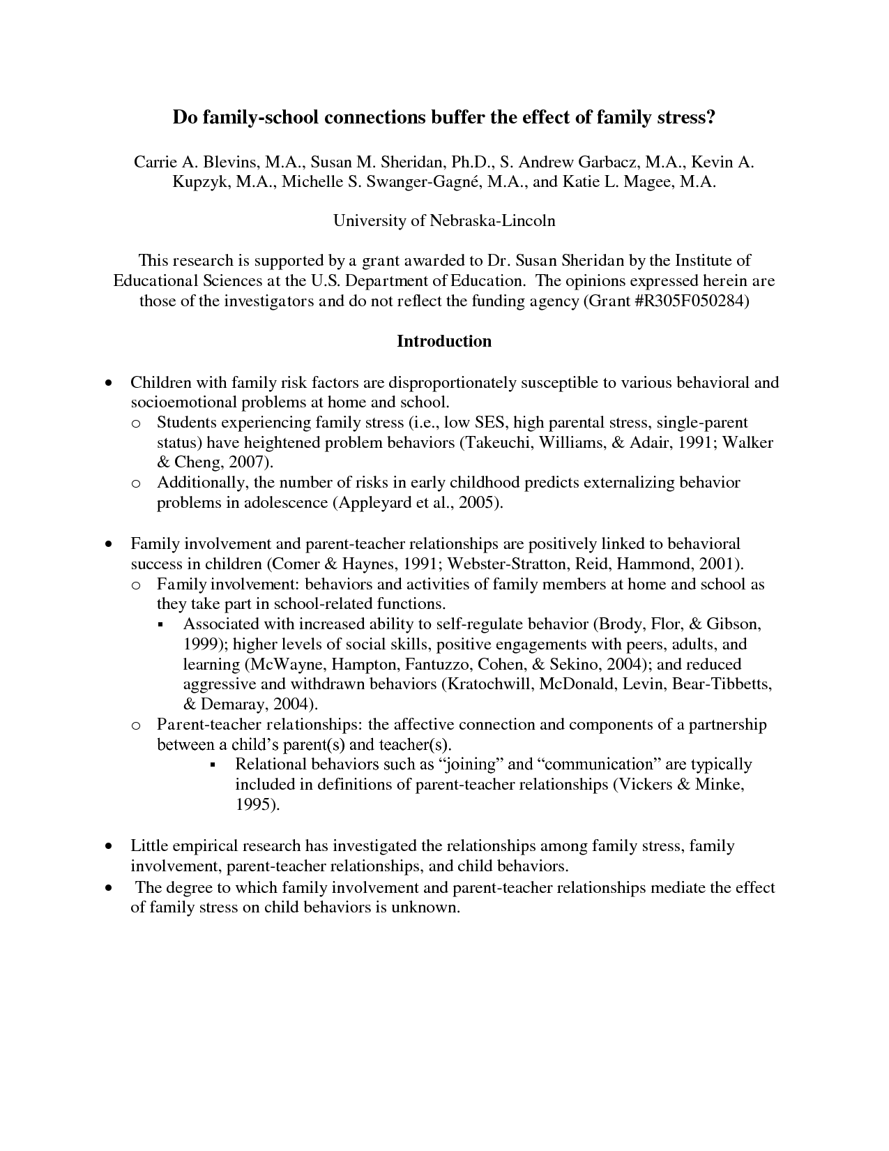 APA Literature Review Outline Example  Literature review outline