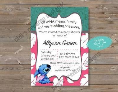 Lilo And Stitch Baby Shower Baby Shower Ideas Pinterest