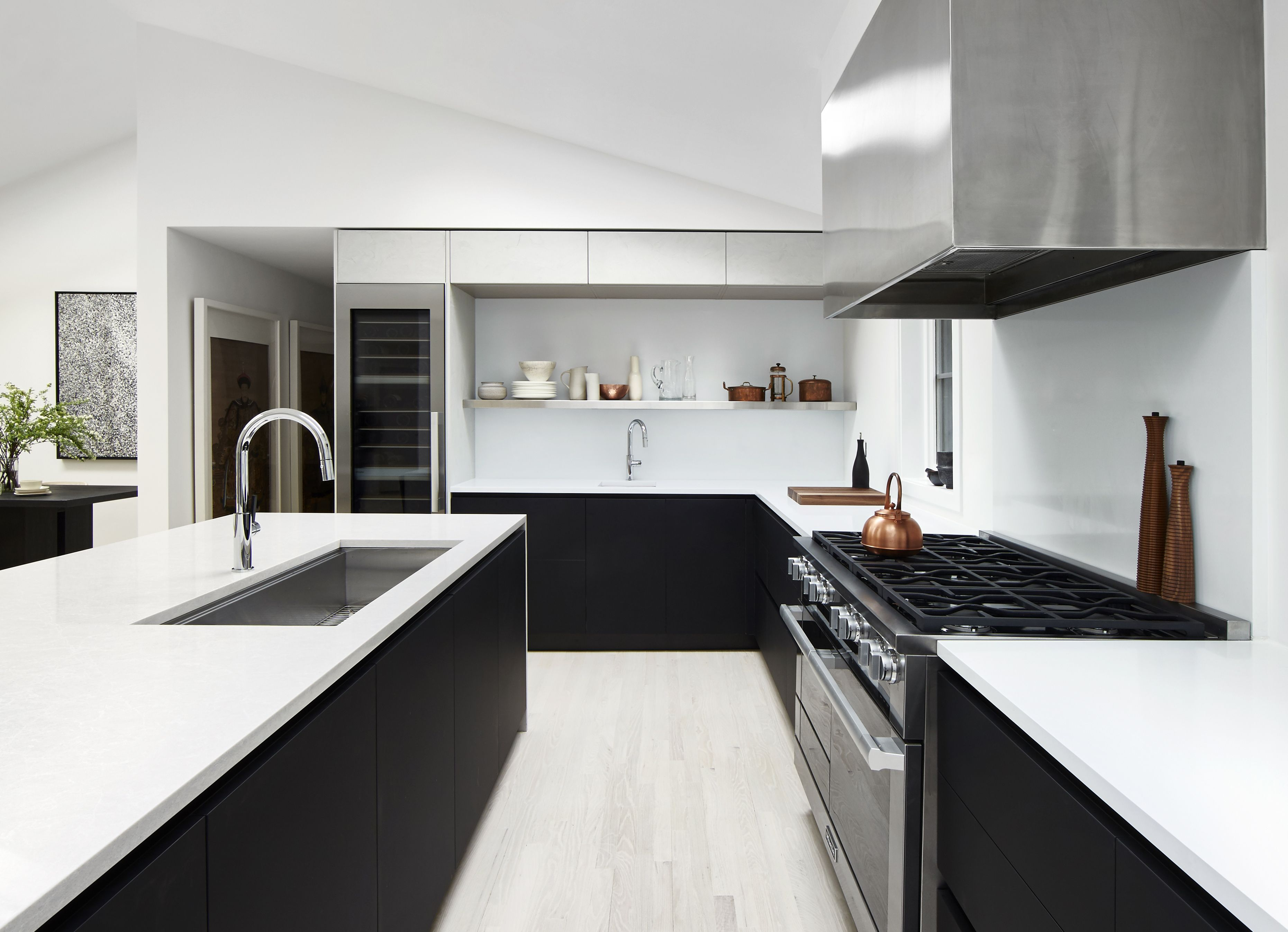Minimal Modern Kitchen In Black And White Photo By Jacob