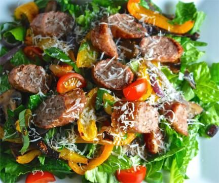 Sausage and Peppers Salad