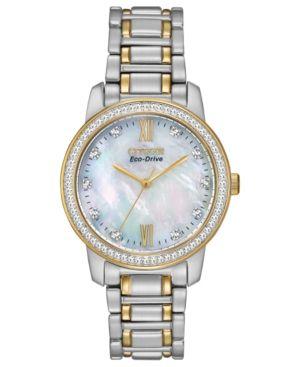 Citizen Women's Eco-Drive Two-Tone Stainless Steel Bracelet Watch 35mm EM0114-51D - A Macy's Exclusive