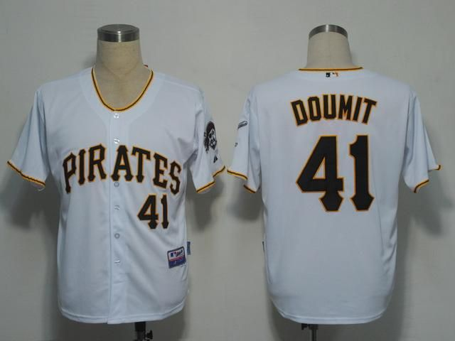 Pirates #41 Ryan Doumit White Embroidered MLB Jersey!$21.50USD