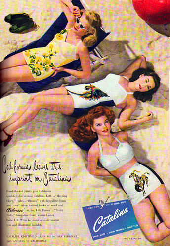 1940s Catalina swimwear. @Stephanie Close Close Francis Long Lou @Amy Lyons Lyons Lyons Lyons Rundell