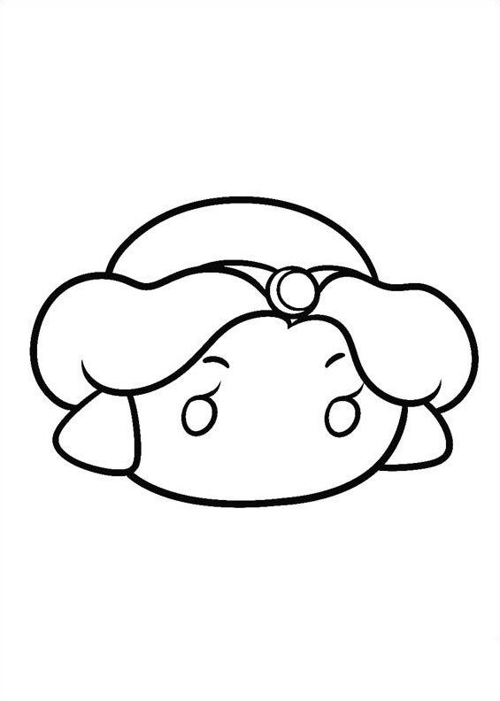 Kids-n-fun.com | 27 coloring pages of Tsum tsum - Jasmin ...
