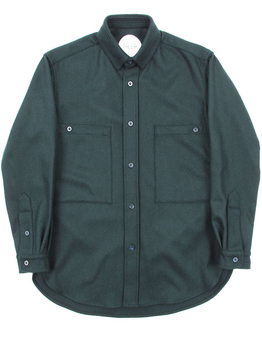 Death to Tennis: Wool Kess Shirt in Olive