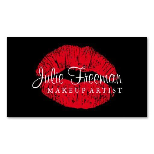 Hot Red Lips Makeup Artist Salon Card Business Card