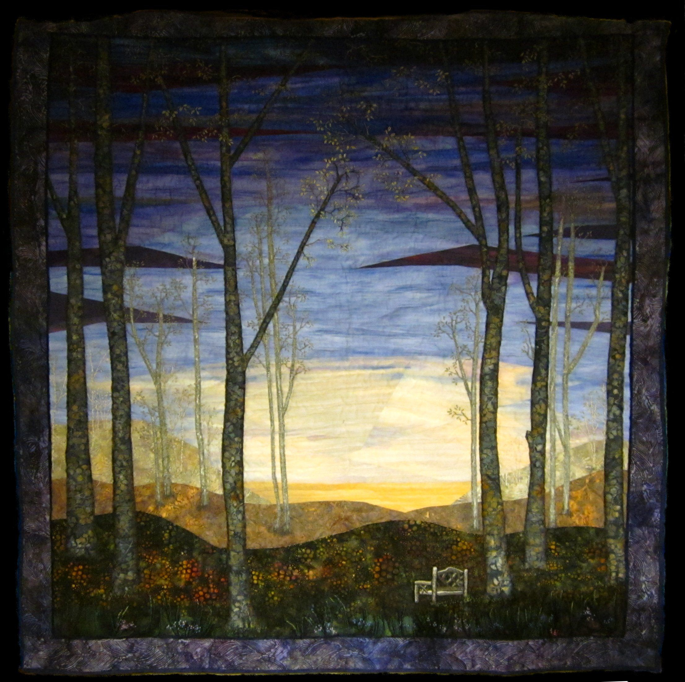 This was a spinoff commission from the previous landscape quilt ... : landscape quilt patterns - Adamdwight.com