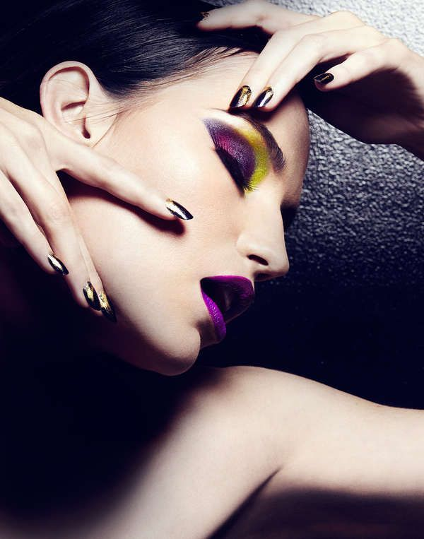 Beetle-Inspired Beauty Looks - Scarab Spring by Michael David Adams is Darkly Colorful (GALLERY)