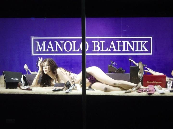 We sell reclining mannequins at Mannequin Madness and this is a good way to showcase them.   This window was done by visual merchandiser Keith Dillion