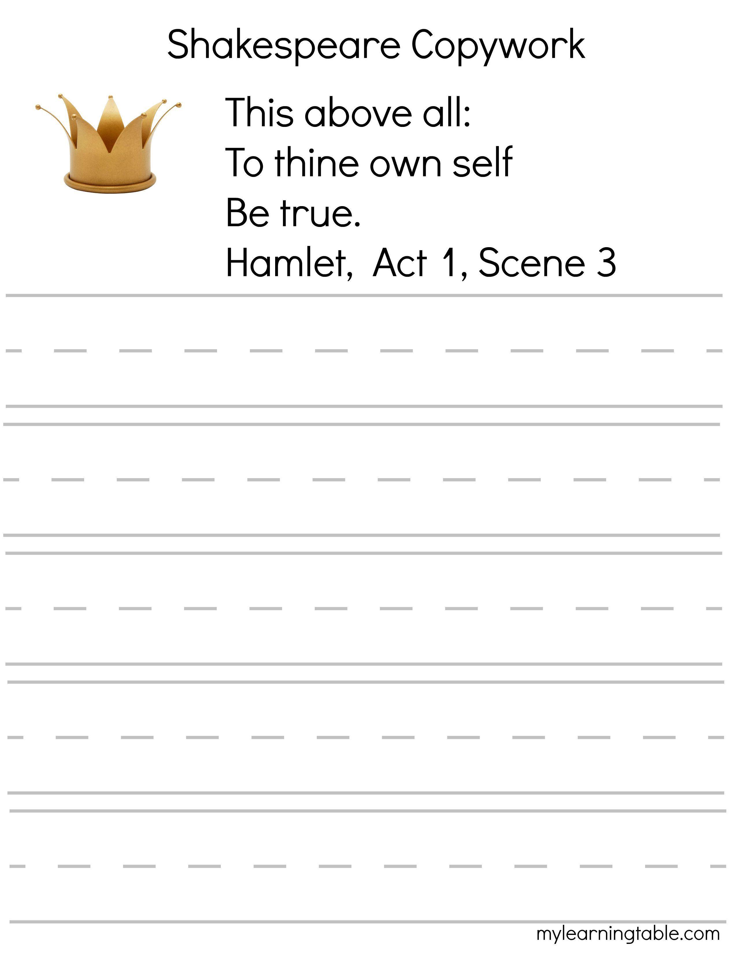 Hamlet For Kids Free Printable