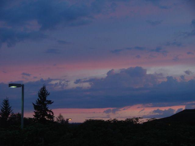 Sunset as seen from Arlington, Wa