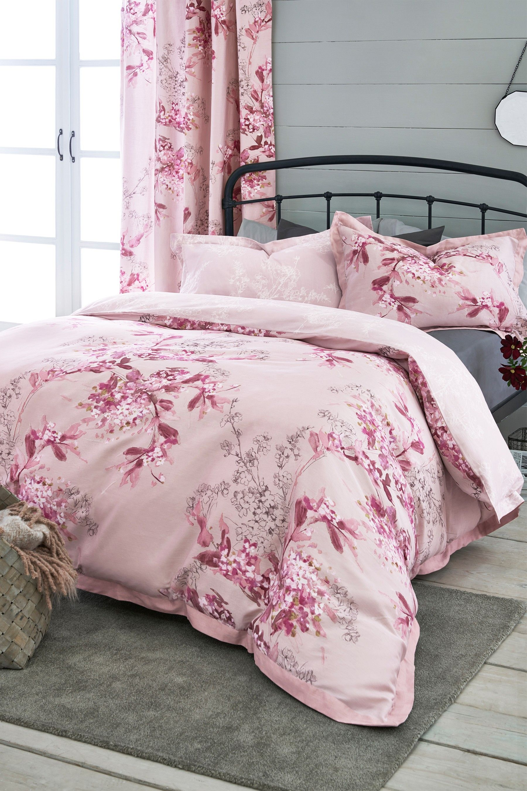 Buy Blossom Floral Duvet Cover and Pillowcase Set from the