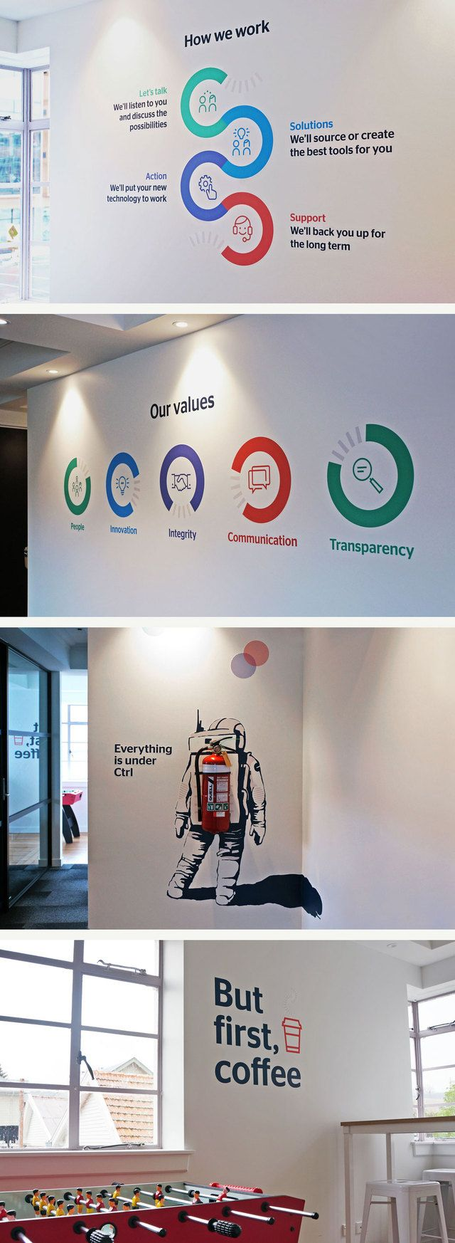 Global Office wall graphics designed by Robertson Creative