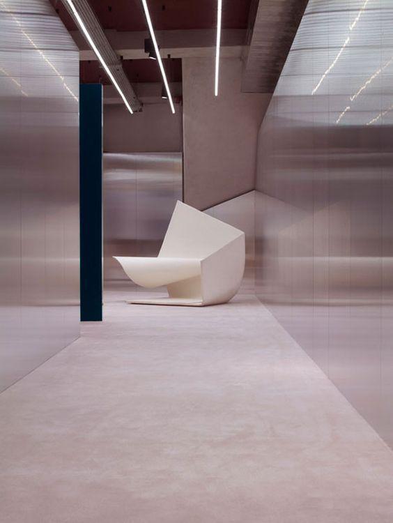 b8ffb2b273be Acne Studio in Paris by Bozarth Fornell Architects.   Acne studios ...
