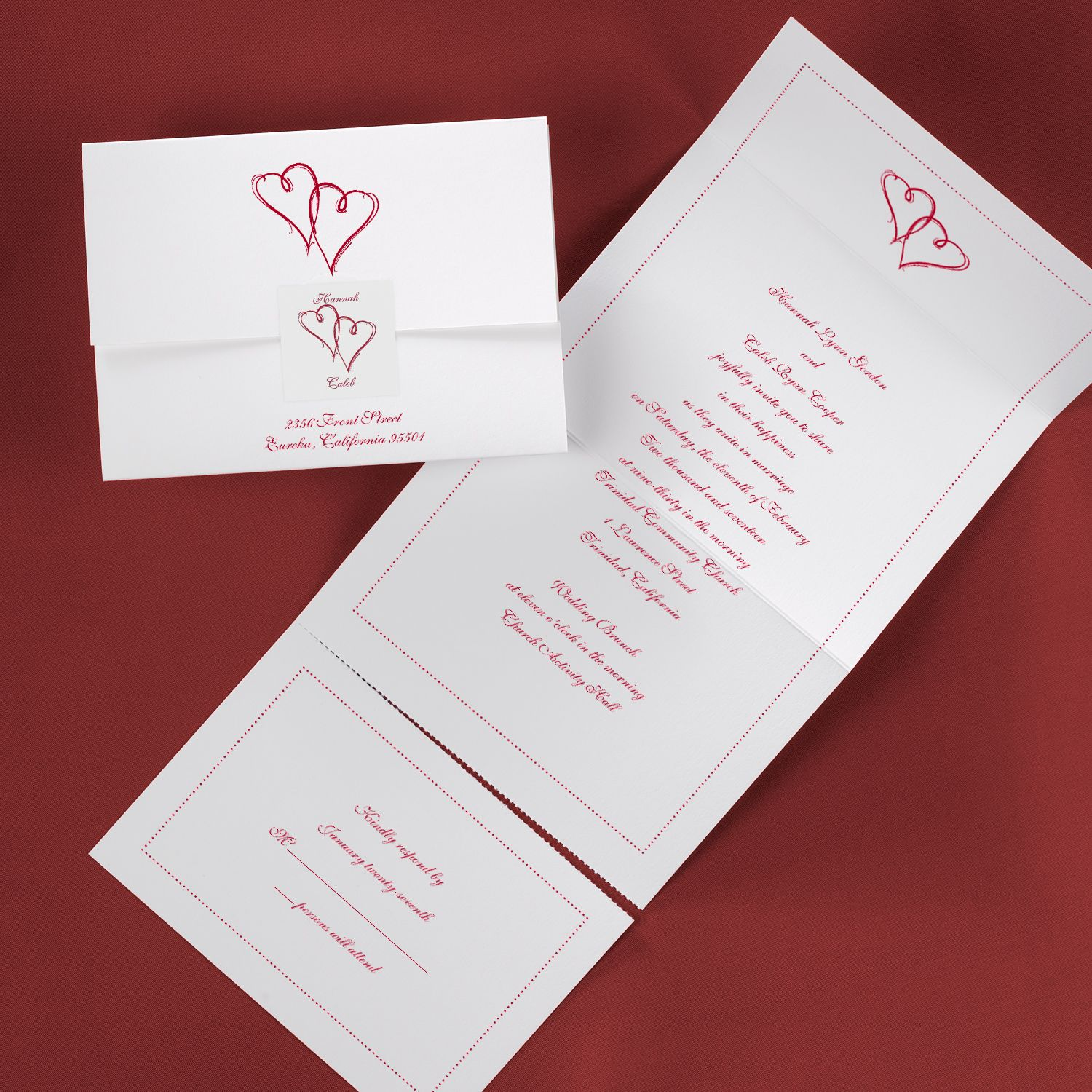 Dorable Wedding Invite Stationary Images - Invitations and ...