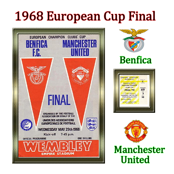 1968 European Cup Final Benfica V Manchester United Man Utd Won By 4 Goals To 1 George Best Scored An Incredible European Cup Cup Final Manchester United