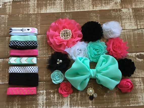 Bella Marie diy headband kit pink headband by CuteAsaBowSupplyCo
