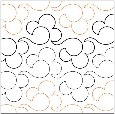Billowy quilting pantograph pattern by Lorien Quilting. buy it at ... : pantographs quilting - Adamdwight.com
