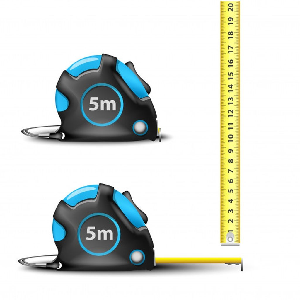 Blue Retractable Steel Measuring Tape With Imperial And