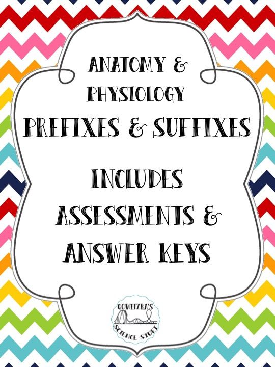 Anatomy and Physiology: Prefix and Suffix Bundle | Prefixes and Students