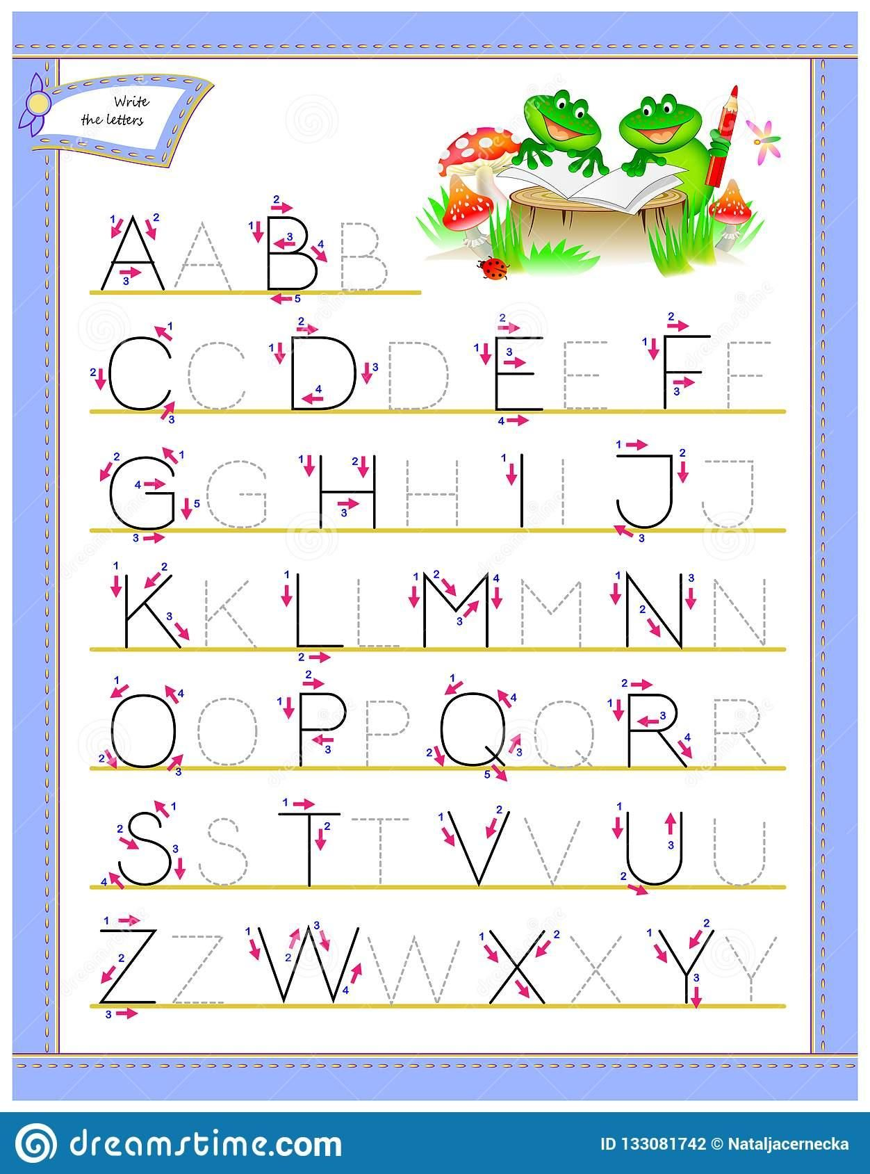 The English Alphabet Worksheets In