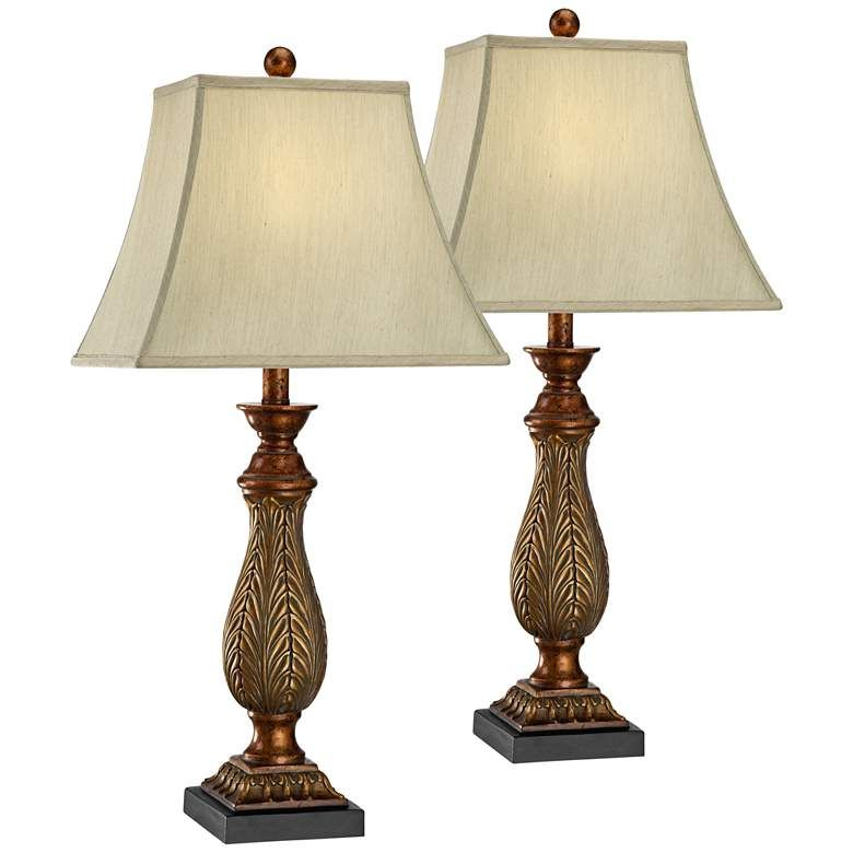 Two Tone Gold Traditional Table Lamps Set Of 2 U5756 Lamps Plus Traditional Table Lamps Table Lamp Sets Table Lamp