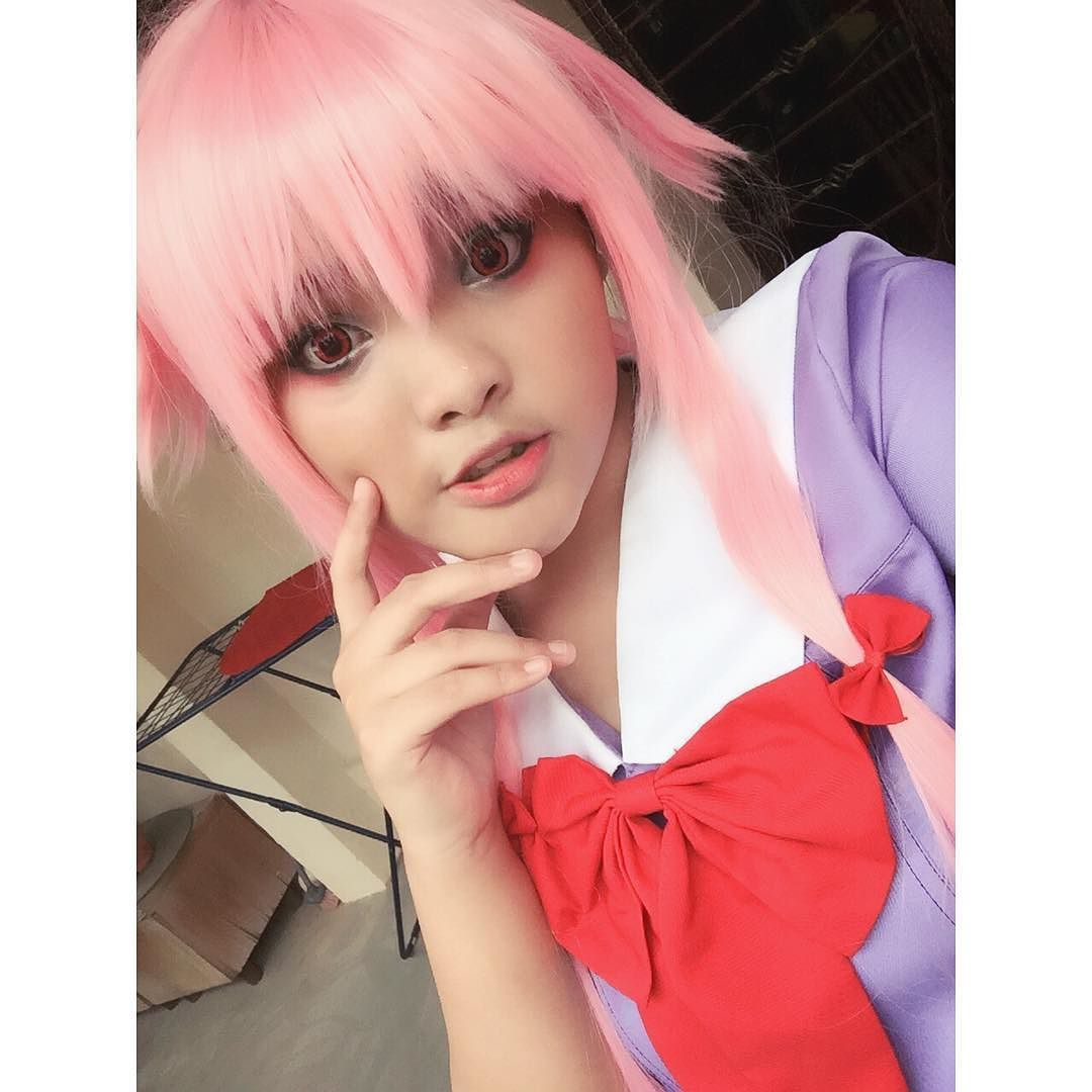 im sick yet i costested now im literally dying #cosplay #animecosplay #mirainikkicosplay #yunogasaicosplay #yunocosplay #gasaiyunocosplay #sgcosplay #sgcosplayer