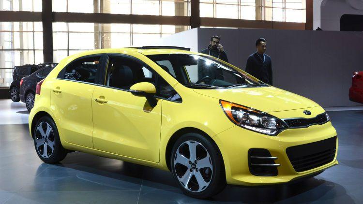 2016 Kia Rio Hatchback Yellow Kia Rio Chicago Auto Show Rio 2015