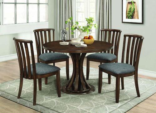 5 Pc Prescott Vintage Cinnamon Dining Room Table Set 107401