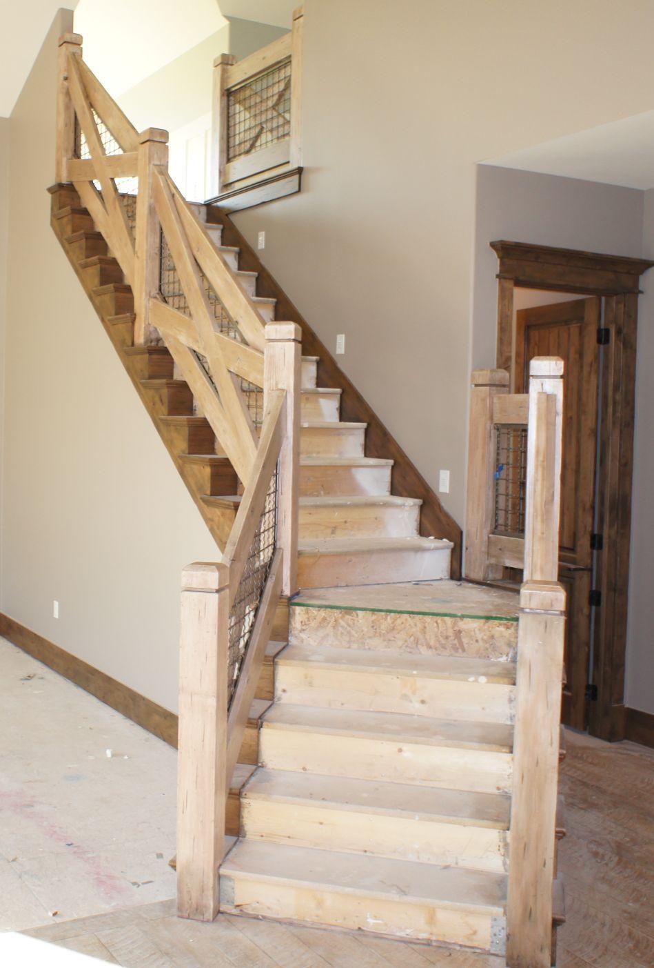 Stair railing in draper utah basement pinterest for Step railing
