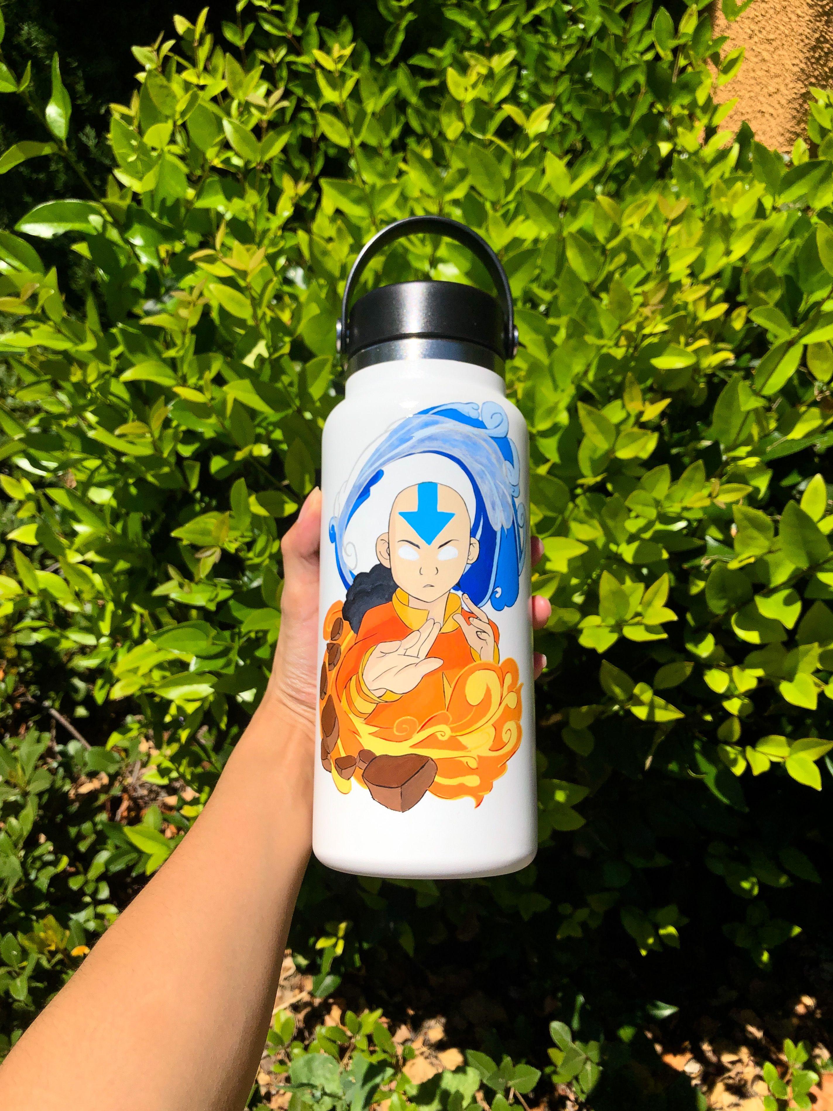 Avatar The Last Airbender Custom Painted Hydroflask Avatar Avatar The Last Airbender Funny Avatar The Last Airbender
