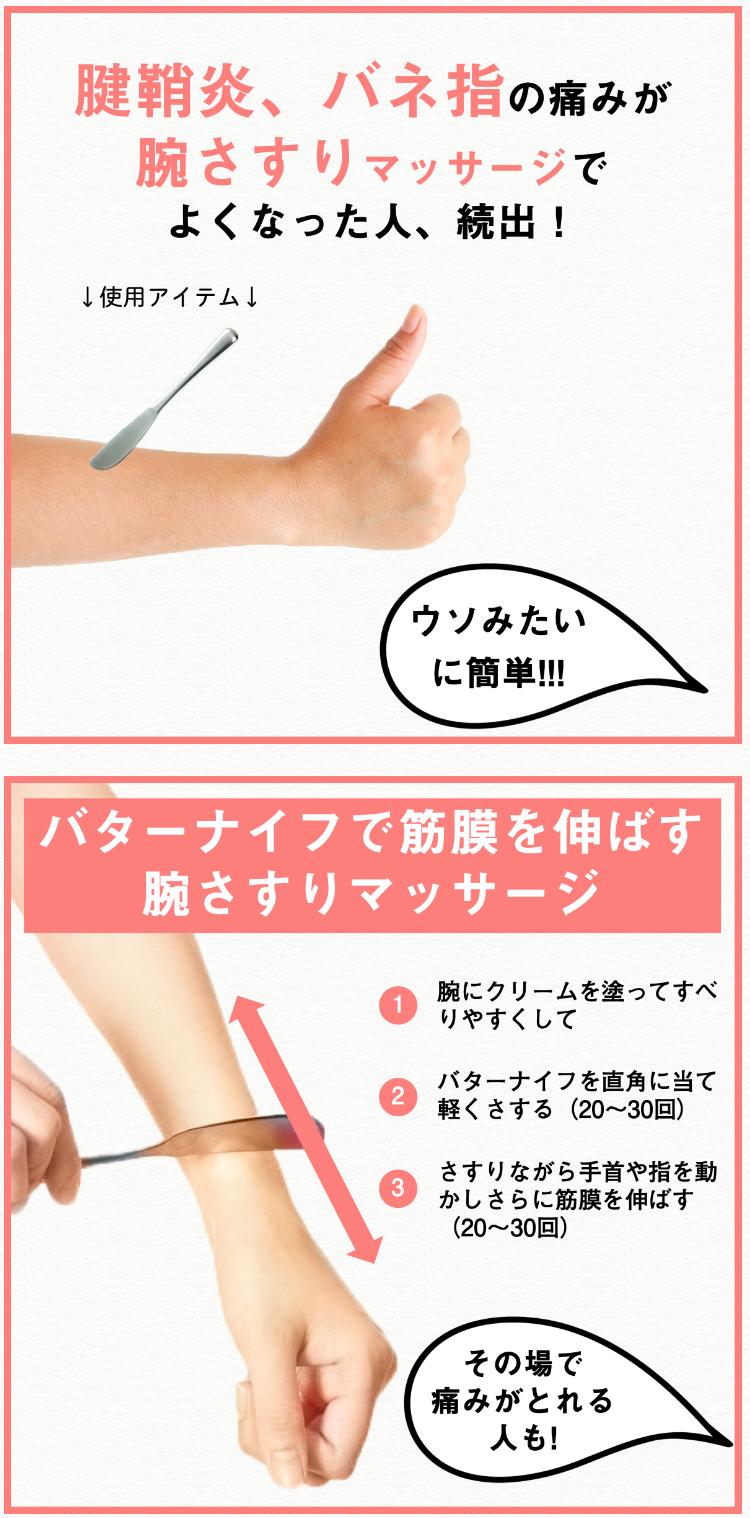 腱鞘炎 バター ナイフ