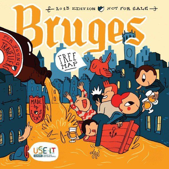 UseIt Map of Bruges Cartel Pinterest Bruges