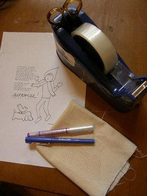 How to trace an embroidery pattern