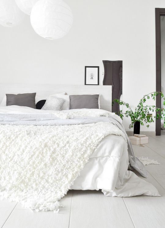 Fill your home with neutrals to create a calming atmosphere.
