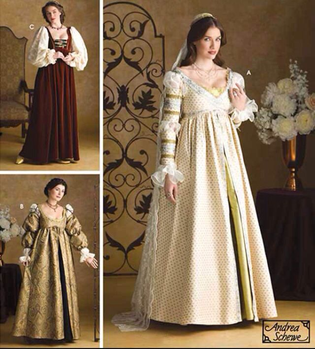 Lovely array of Italian Renaissance dresses   Renaissance Dresses ...