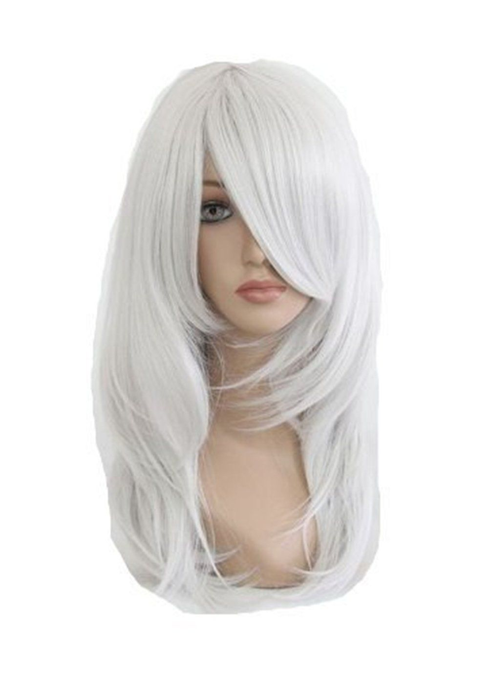 Cosplaza cosplay wigs anime show party hair silver white